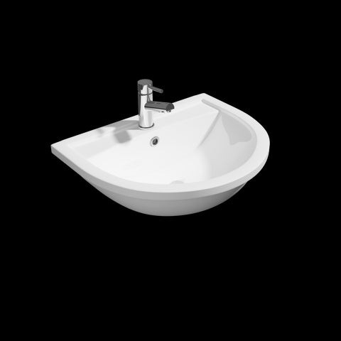 Lorca 550mm Semi Recessed Basin