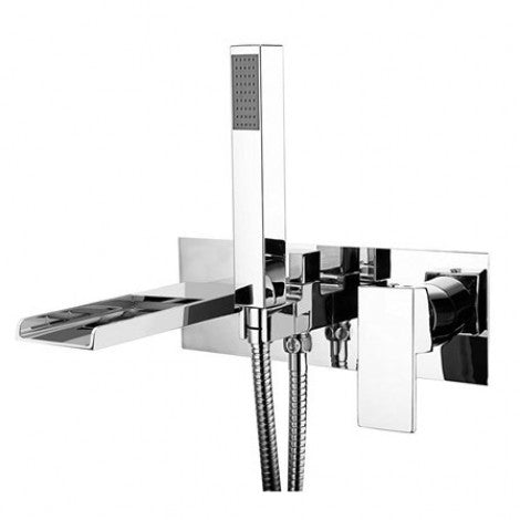 Naples Wall Mounted Waterfall Bath Shower Mixer