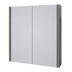 Roma 750mm Mirror Cabinet Grey Ash