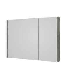 Roma 900mm Mirror Cabinet Grey Ash
