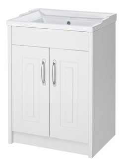 Ayton 600mm Vanity Unit & Ceramic Basin White