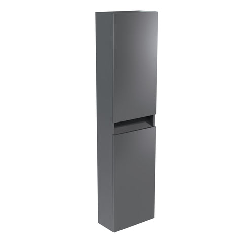 Vernazza Wall Mounted Tall Boy Cabinet Grey Gloss