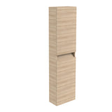 Vernazza Wall Mounted Tall Boy Cabinet Oak