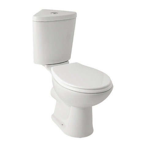 Essential Corner Close Couple Toilet & Soft Closing Seat