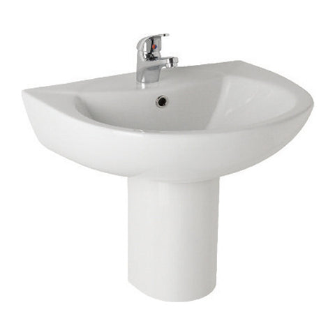Essential 545mm Basin & Semi Pedestal