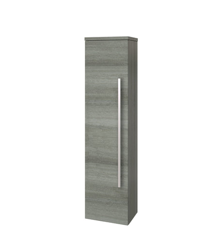 Roma Wall Mounted Side Unit Tall Boy Grey Ash