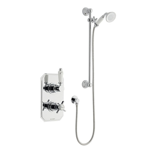 Classic Thermostatic Concealed Shower with Adjustable Slide Rail Kit