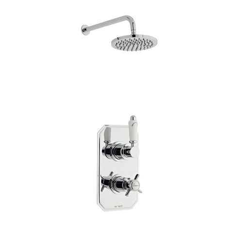Classic Thermostatic Concealed Shower with Overhead Shower