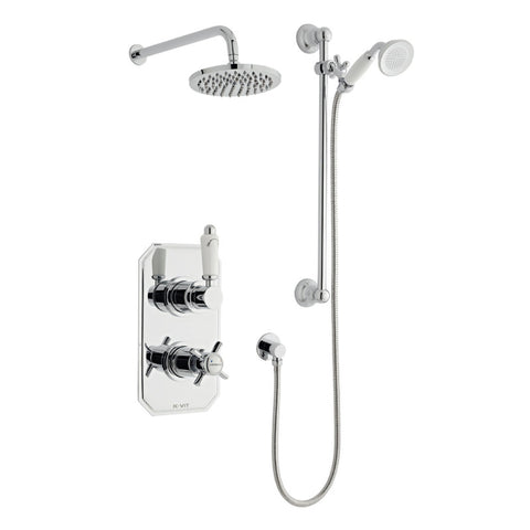 Classic Thermostatic Concealed Shower with Overhead Shower and Handset