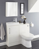 Massa 700mm Mirror Cabinet White