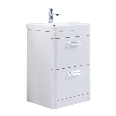 Java 500mm Floor Standing Vanity Unit & Ceramic Basin