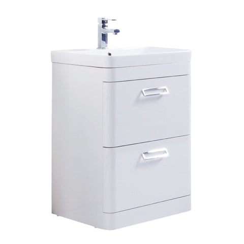 Java 600mm Floor Standing Vanity Unit & Ceramic Basin
