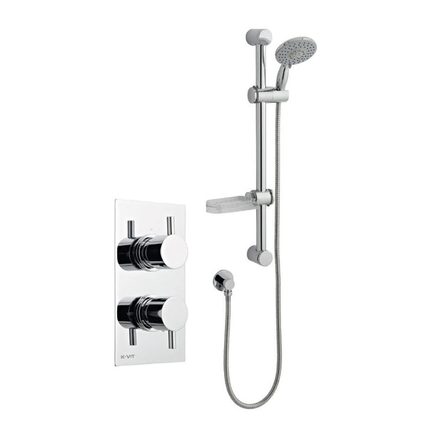 Mantua Thermostatic Concealed Shower with Adjustable Slide Rail Kit