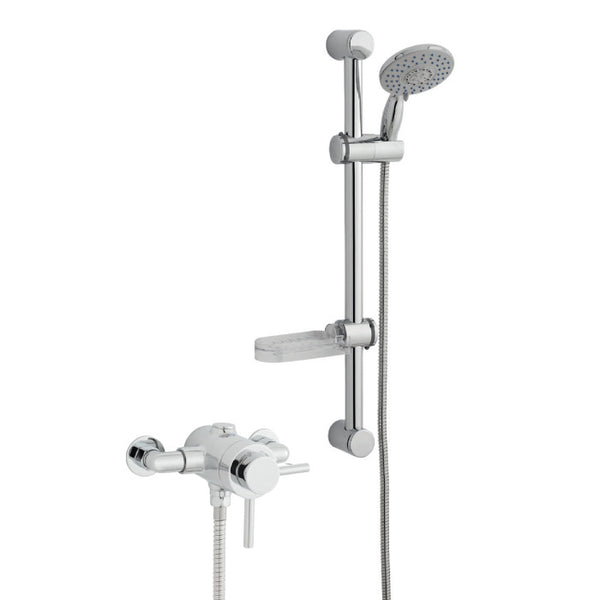 Mantua Thermostatic Exposed Shower and Sliding Handset