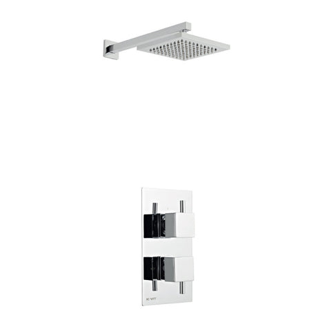Amalfi Thermostatic Concealed Shower with Overhead Shower