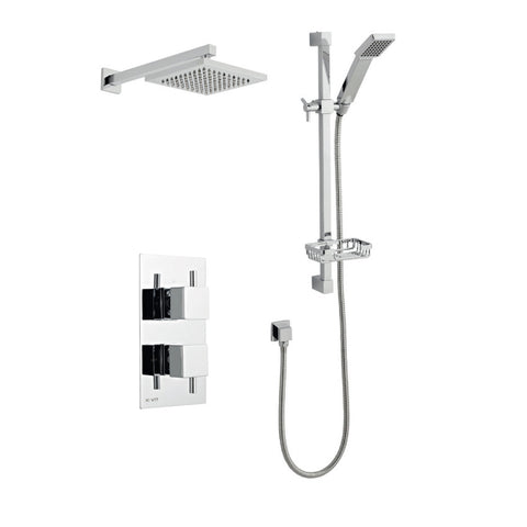 Amalfi Thermostatic Concealed Shower with Overhead Shower and Sliding Handset