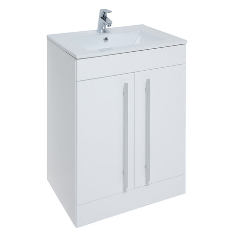 Roma 600mm Vanity Unit & Ceramic Basin White