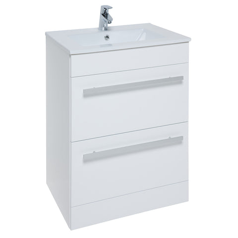 Roma 750mm Vanity Unit & Ceramic Basin White