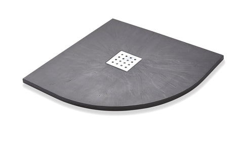 Titan Slate Effect Quadrant Shower Tray