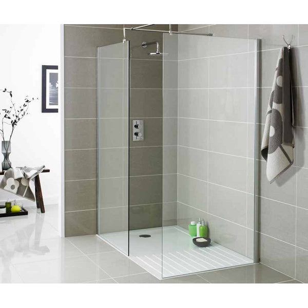 Perfect Rectangular 1700x800mm Stone Shower Tray for Shower Enclosure Waste Trap
