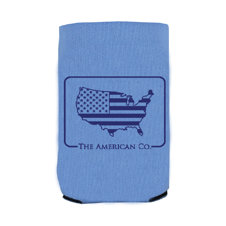 American Patch Koozie - Light Blue