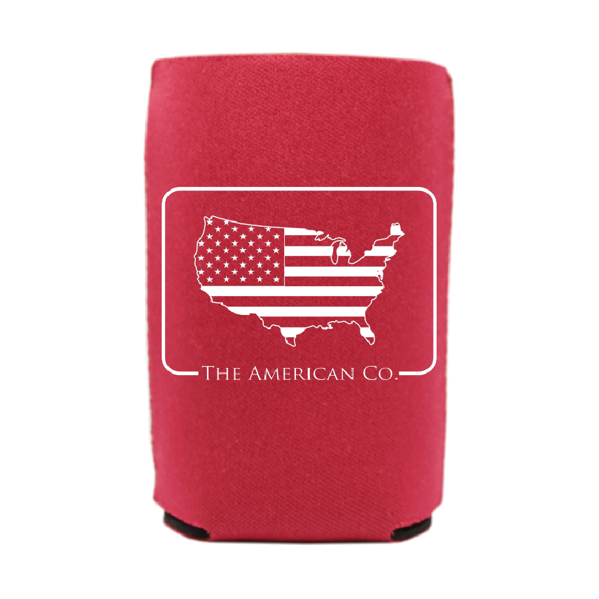 American Patch Koozie - Red