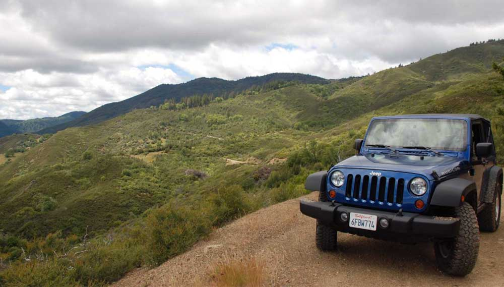 Mendocino National Forest jeep
