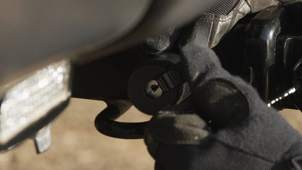install the trailer hitch lock pin