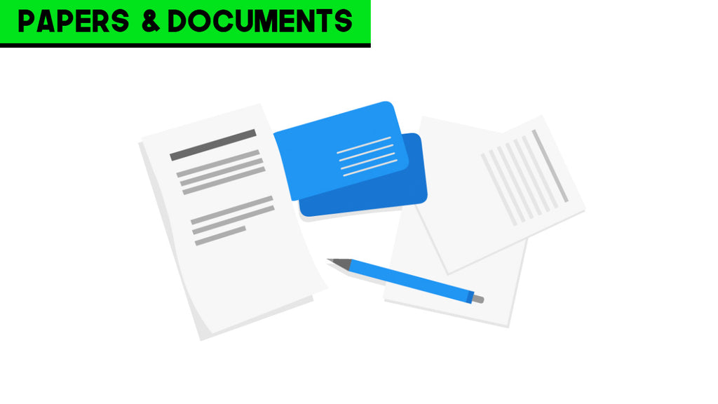 papers and documents