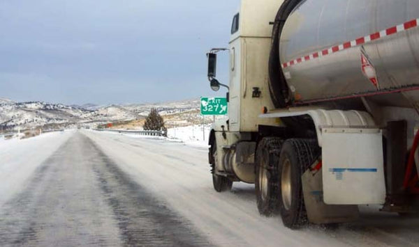 truck slowing down in snow