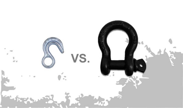 tow strap with hook vs d ring shackle
