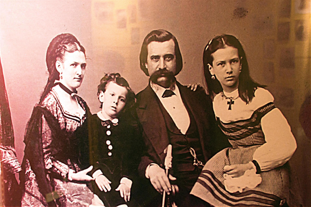 john a logan and his family