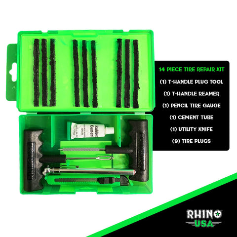 Rhino USA Compact Tire Repair Kit