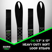 Soft Loop Tie-Down Straps (4-Pack)