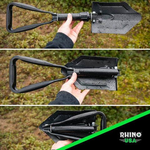 Folding Survival Shovel w/ Pick