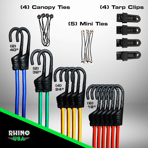 28 Piece Bungee Cord Set