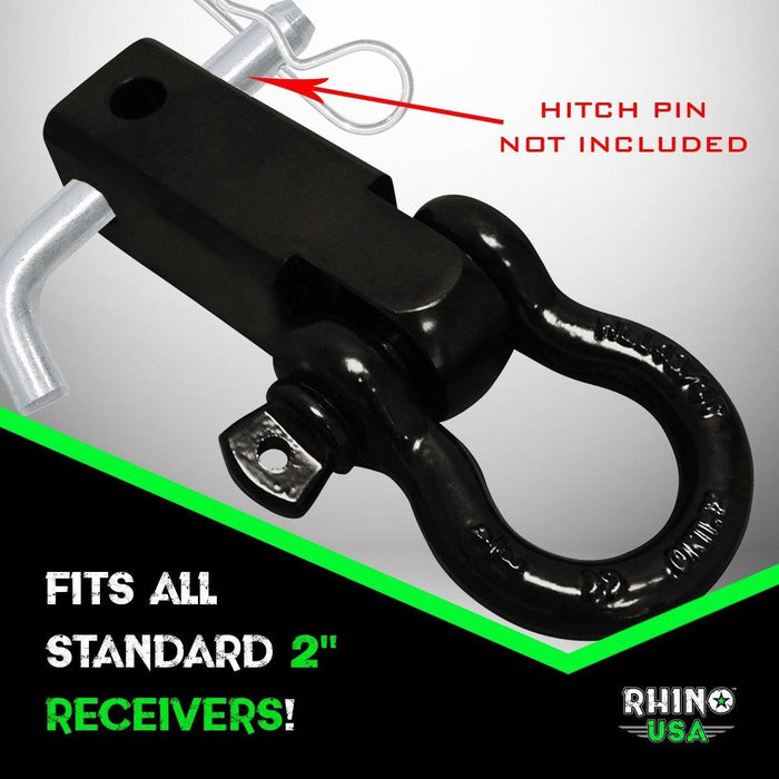 Recovery Gear Combo - 30' Tow Strap & Shackle Hitch Receiver
