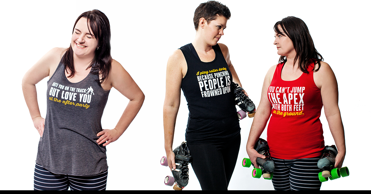 Asskicker Roller Derby Shirts: tanks, tees and hoodies