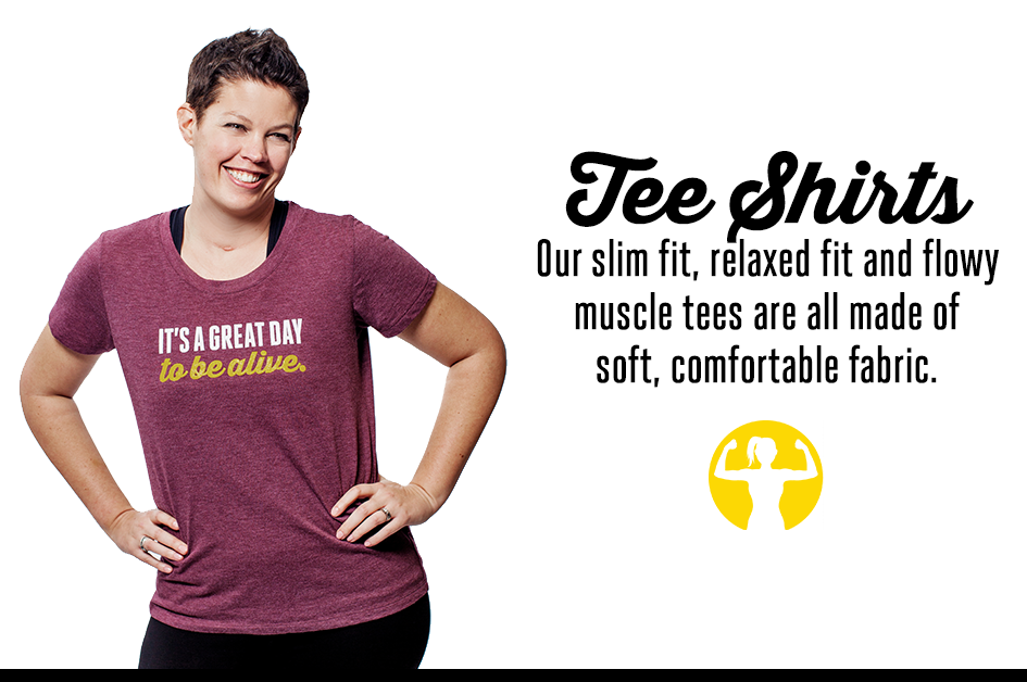 T-shirts with inspiring messages for women