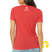 Relaxed fit jersey tee for women in red