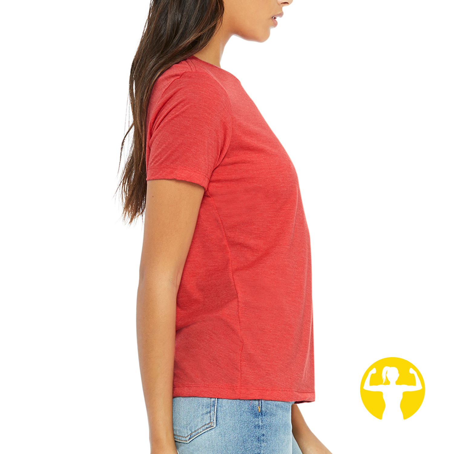 Select a Saying | Ladies' Relaxed Jersey Tee, Red