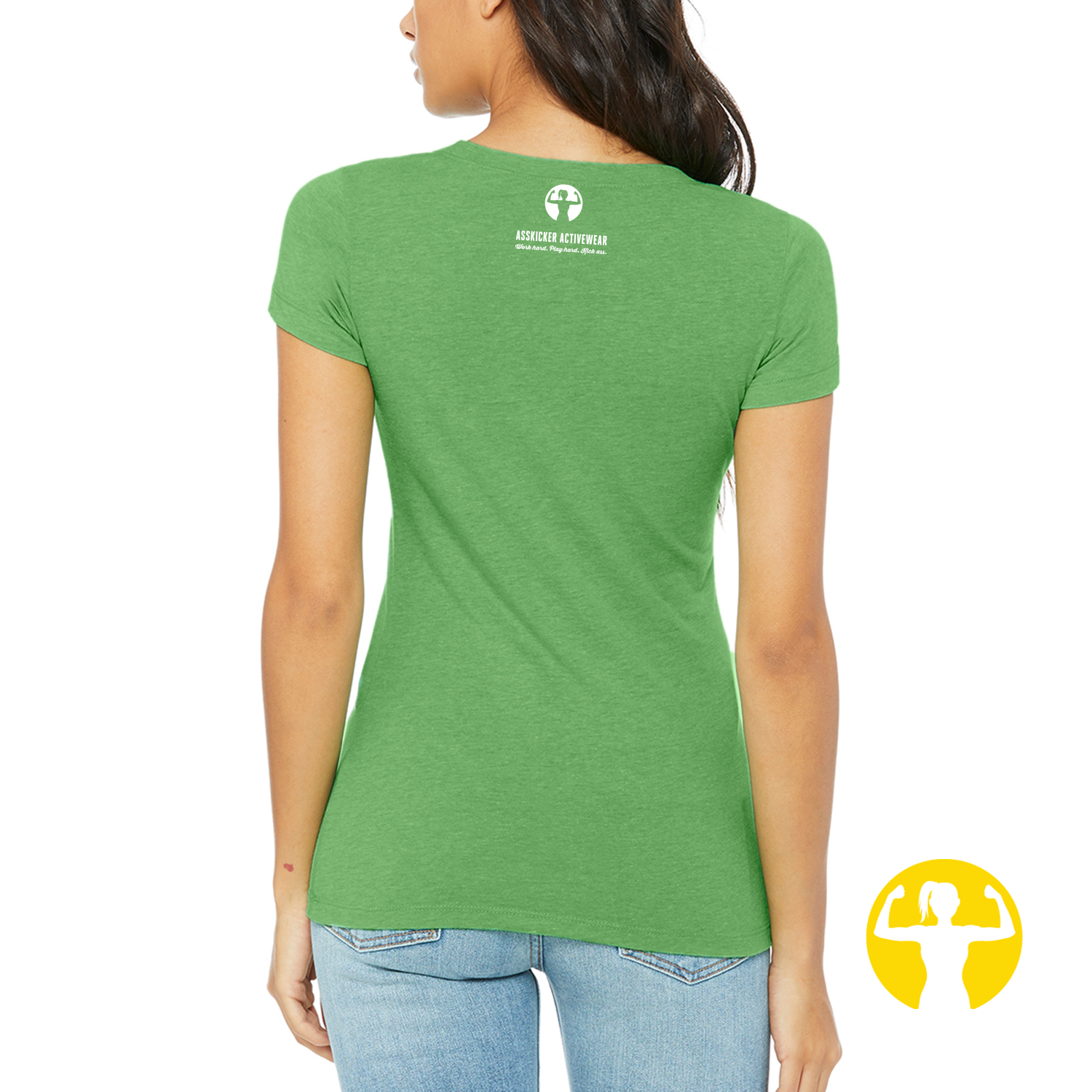 Green graphic tee that says strong as a mother