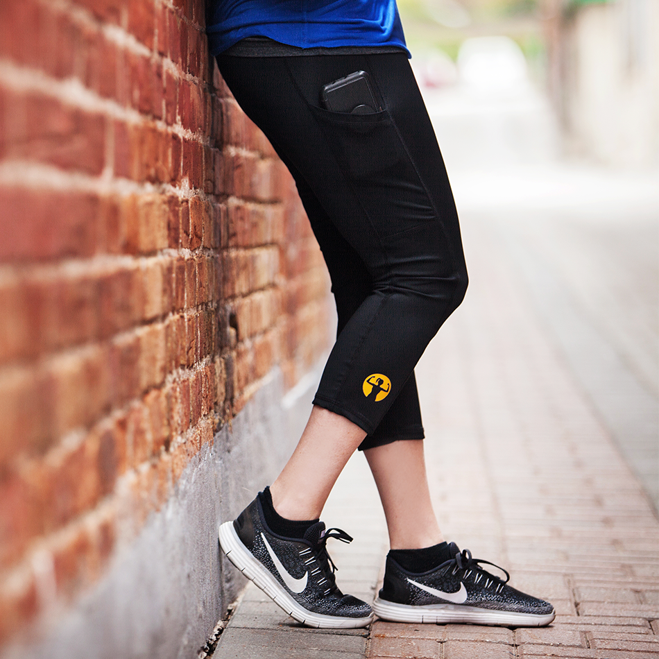 Asskicker Ink. Logo | Compression Capri Pants