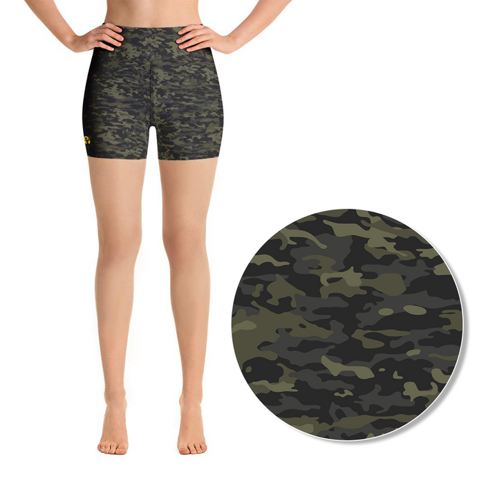 Camo, green | High-Rise Shorts