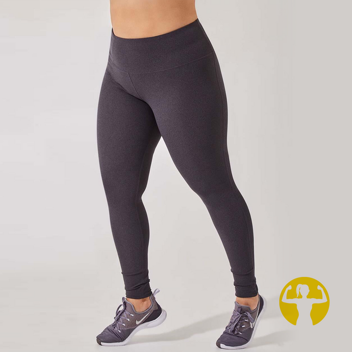 Rapid High Waisted Recycled Polyester Leggings - Charcoal 1X-3X