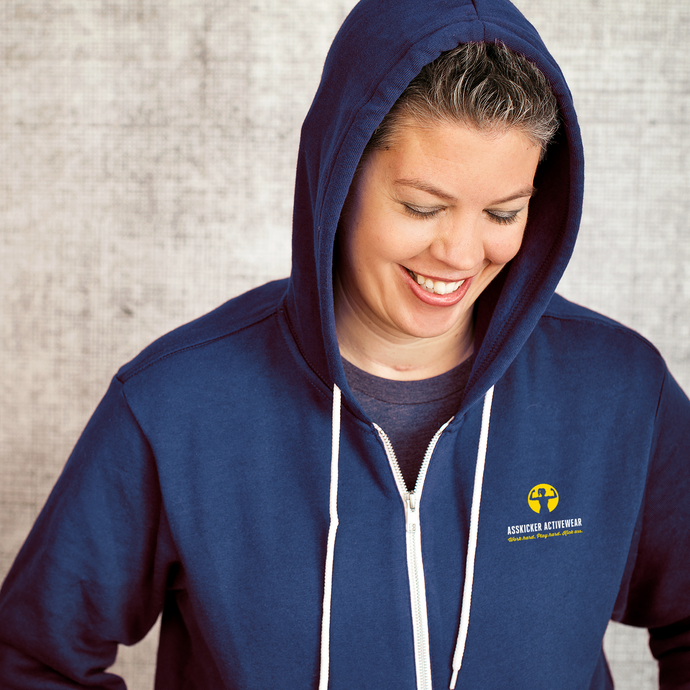 Work hard. Play hard. Kick Ass. | Sponge Fleece Full-Zip Hoodie