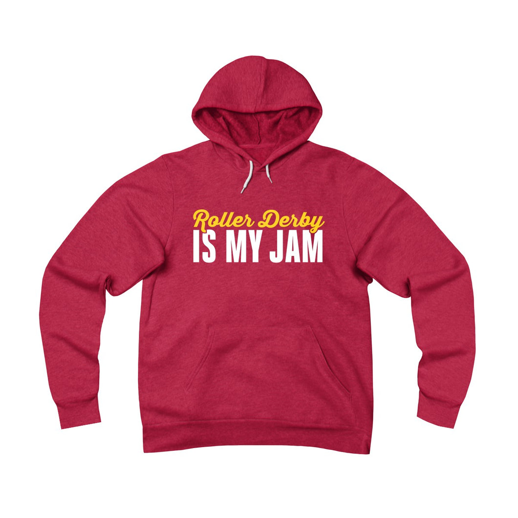Roller derby is my jam - roller derby hoodie in red, blue, grey or black