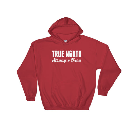 True north strong & free | Hooded Sweatshirt (unisex) Made to Order