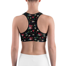 Sports Bra | Black Floral (Made to Order)