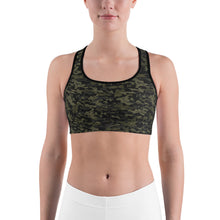 Camo, Green | Sports bra (made to order)